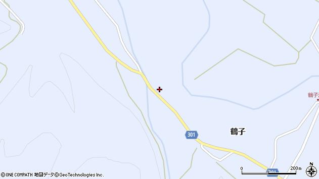 山形県尾花沢市鶴子781周辺の地図