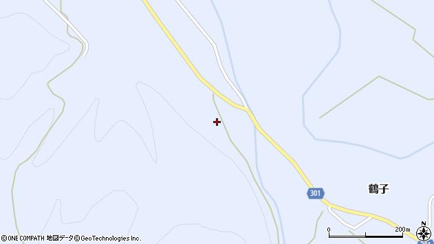 山形県尾花沢市鶴子1176周辺の地図