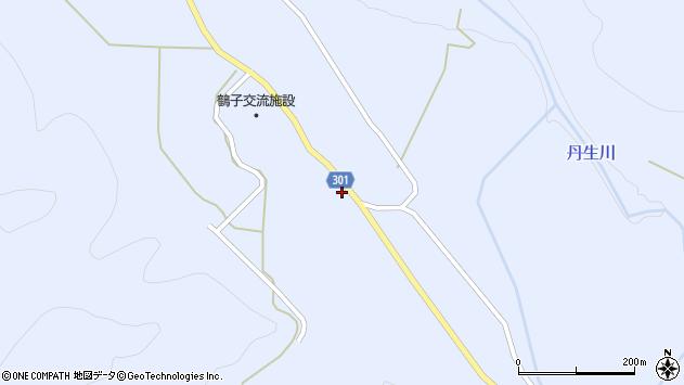 山形県尾花沢市鶴子600周辺の地図