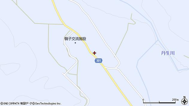 山形県尾花沢市鶴子607周辺の地図