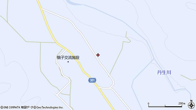 山形県尾花沢市鶴子中里周辺の地図