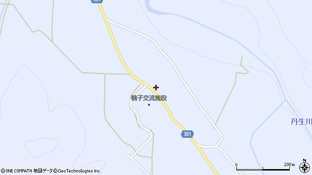山形県尾花沢市鶴子628周辺の地図