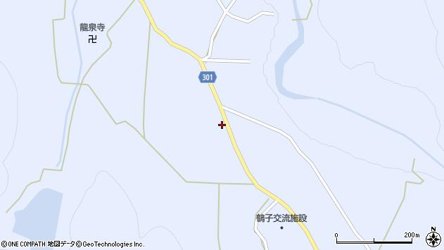 山形県尾花沢市鶴子636周辺の地図
