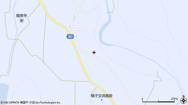 山形県尾花沢市鶴子563周辺の地図