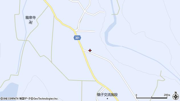 山形県尾花沢市鶴子561周辺の地図