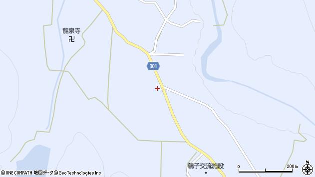 山形県尾花沢市鶴子637周辺の地図