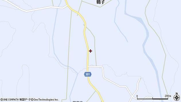 山形県尾花沢市鶴子344周辺の地図