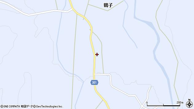 山形県尾花沢市鶴子338周辺の地図