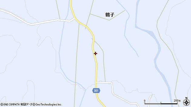 山形県尾花沢市鶴子336周辺の地図