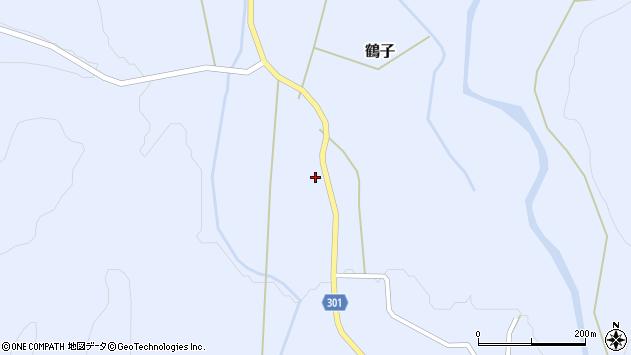 山形県尾花沢市鶴子330周辺の地図