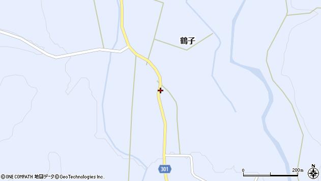 山形県尾花沢市鶴子328周辺の地図
