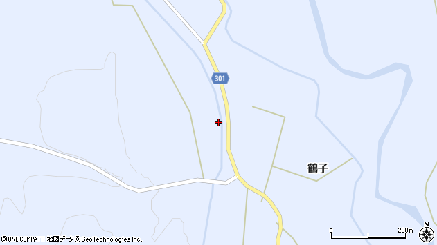 山形県尾花沢市鶴子296周辺の地図