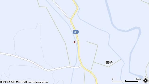 山形県尾花沢市鶴子295周辺の地図