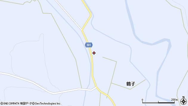山形県尾花沢市鶴子257周辺の地図