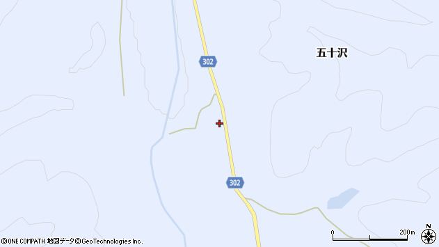 山形県尾花沢市五十沢541周辺の地図