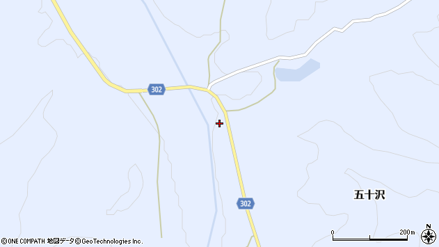 山形県尾花沢市五十沢578周辺の地図
