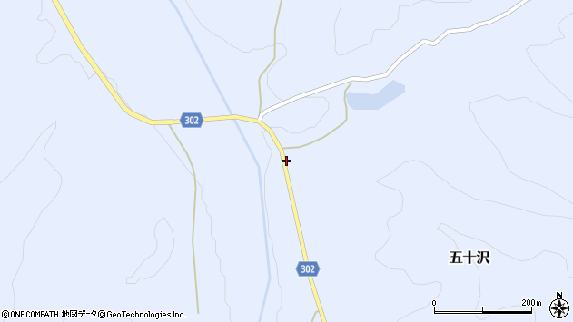 山形県尾花沢市五十沢484周辺の地図