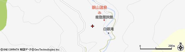 山形県尾花沢市銀山新畑中山周辺の地図