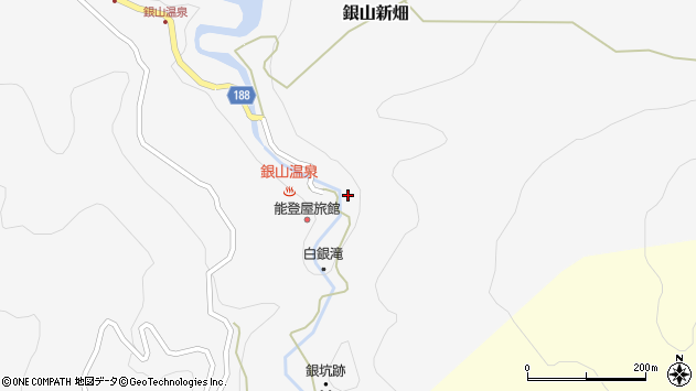 山形県尾花沢市銀山新畑451周辺の地図