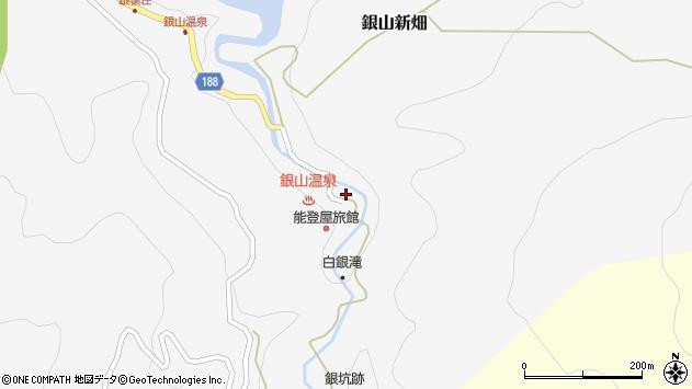 山形県尾花沢市銀山新畑447周辺の地図