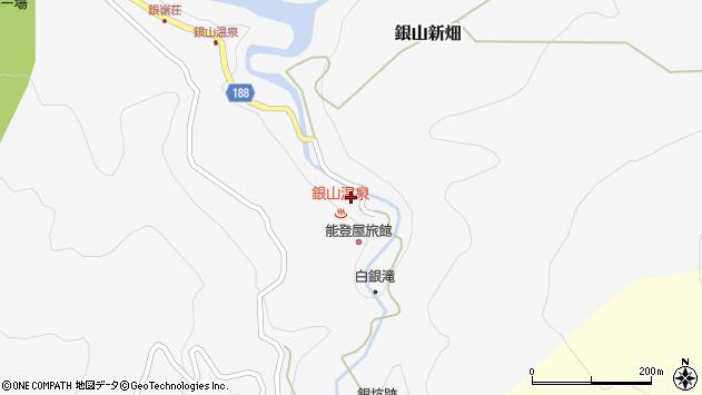 山形県尾花沢市銀山新畑444周辺の地図
