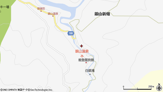 山形県尾花沢市銀山新畑421周辺の地図