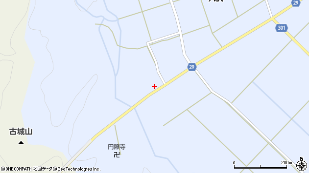 山形県尾花沢市六沢230周辺の地図