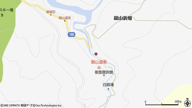 山形県尾花沢市銀山新畑423周辺の地図