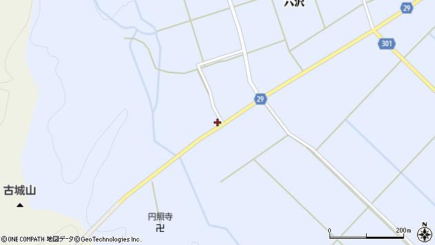 山形県尾花沢市六沢232周辺の地図