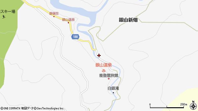 山形県尾花沢市銀山新畑424周辺の地図