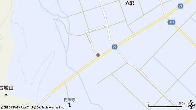 山形県尾花沢市六沢235周辺の地図
