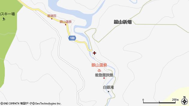 山形県尾花沢市銀山新畑426周辺の地図
