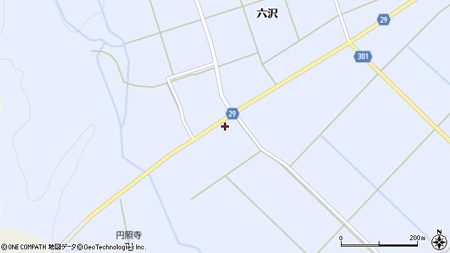 山形県尾花沢市六沢204周辺の地図