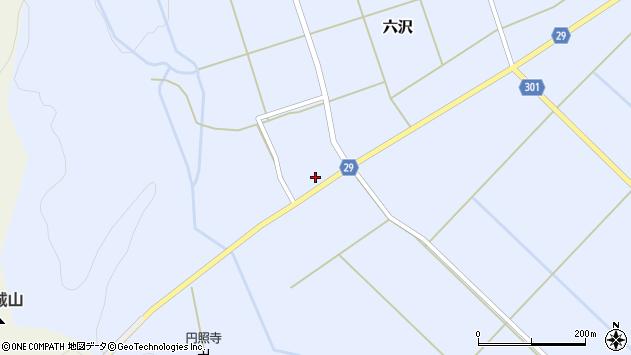 山形県尾花沢市六沢241周辺の地図