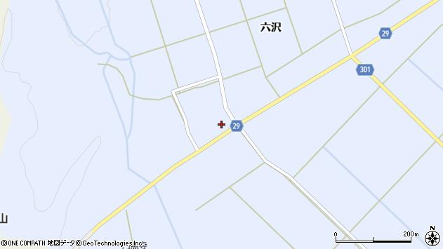 山形県尾花沢市六沢243周辺の地図