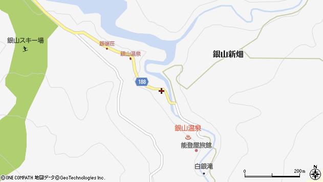 山形県尾花沢市銀山新畑382周辺の地図