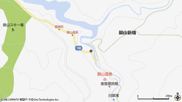 山形県尾花沢市銀山新畑384周辺の地図