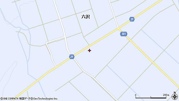 山形県尾花沢市六沢189周辺の地図