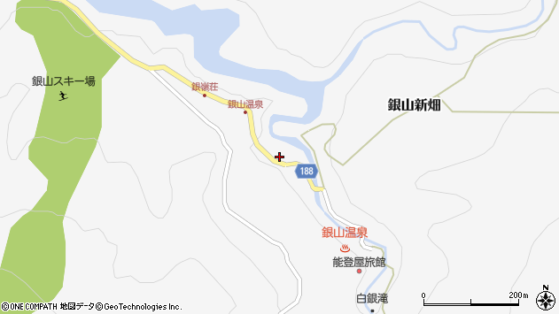 山形県尾花沢市銀山新畑383周辺の地図