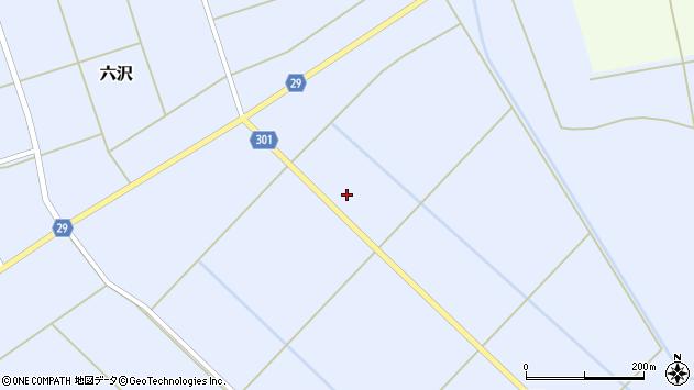山形県尾花沢市六沢335周辺の地図