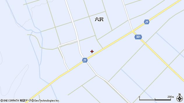 山形県尾花沢市六沢250周辺の地図