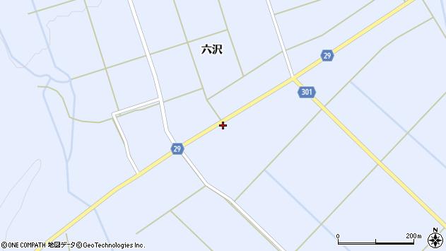 山形県尾花沢市六沢188周辺の地図