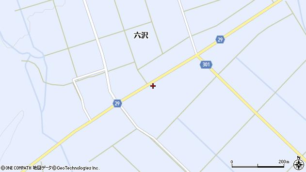山形県尾花沢市六沢186周辺の地図