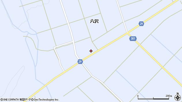 山形県尾花沢市六沢252周辺の地図