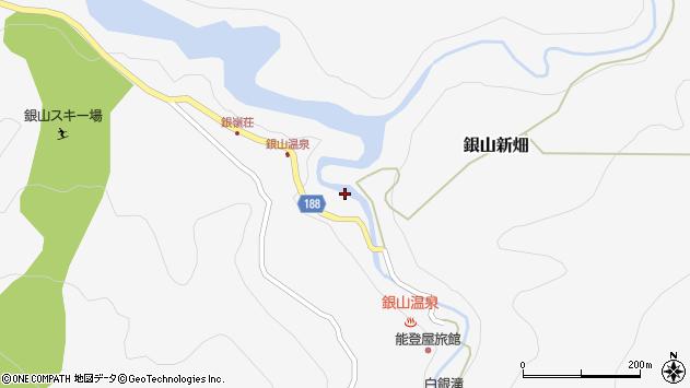 山形県尾花沢市銀山新畑386周辺の地図