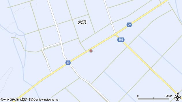 山形県尾花沢市六沢184周辺の地図