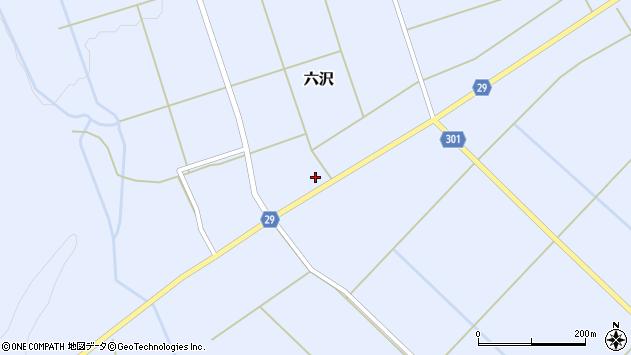 山形県尾花沢市六沢253周辺の地図
