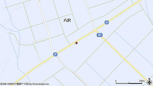 山形県尾花沢市六沢181周辺の地図