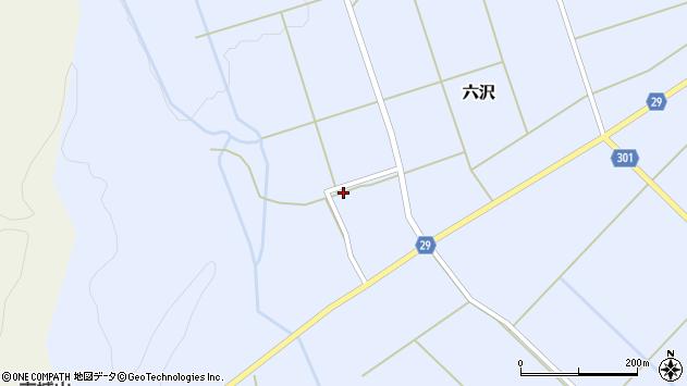山形県尾花沢市六沢308周辺の地図