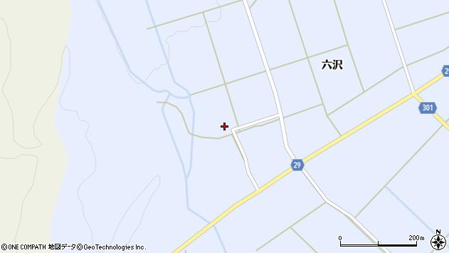 山形県尾花沢市六沢325周辺の地図
